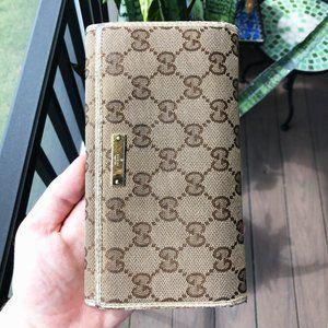 Gucci Monogram Long Wallet
